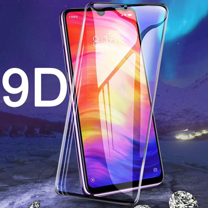 9D Protective tempered glass for Xiaomi Redmi 7A Note 7 Pro 7S Redmi7 A Redmi7a note7 S note7s note7pro 7pro 9H screen protector(China)