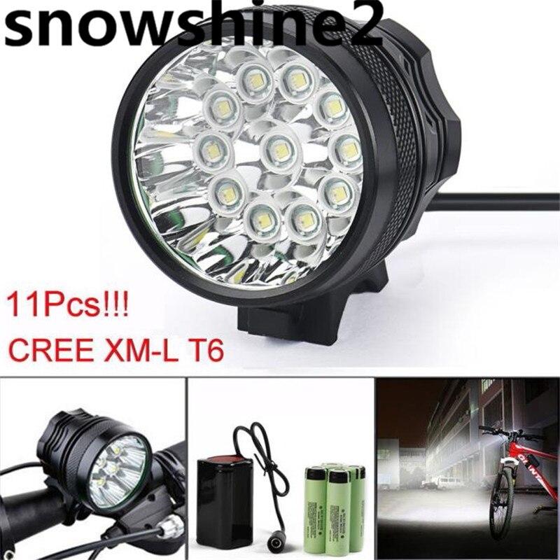 ФОТО snowshine2#3522 28000LM 11 x CREE XM-L T6 LED 6 x 18650 Bicycle Cycling Light Waterproof Lamp  free shipping dd