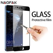 "NAGFAK 0.28 מ""מ זכוכית מגן Huawei לייט 2017 P10 P8 P9 בתוספת מגן מגן מסך Mate 9 לכבוד 9 8 לייט סרט"