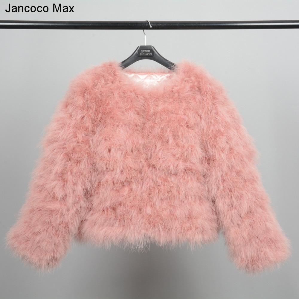 Jancoco Max S1002 Qadınlar 2019 Həqiqi kürk palto Orijinal - Qadın geyimi - Fotoqrafiya 4