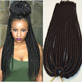 "18"" blonde crochet braids synthetic braiding hair faux locs crochet braid hair dreadlock extensions dreadlocks braids crochet"