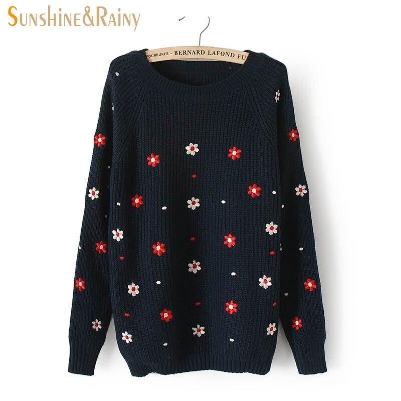 375fd80551b5 Autumn Winter Women Long Sleeve Round Neck Owl sweater Pattern ...