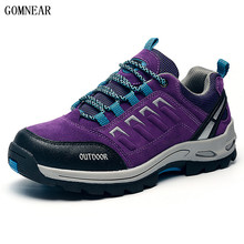 GOMNEAR Women s Mesh Hiiking font b Shoes b font Breathable Outdoor Antiskid Trekking Hunting Sport