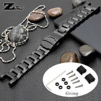 Notch black metal watchband Stainless steel watch strap for casio g shock GA 1000/G 1400/GW A1100/GW 4000 watch band