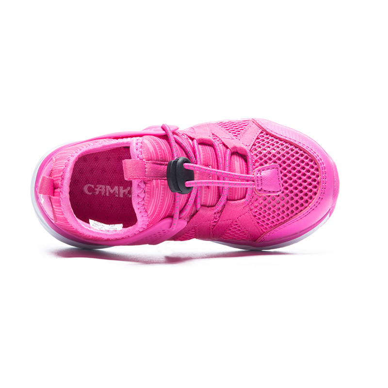 CAMKIDS Girls Summer Shoes Breathable Elastic Band Casual Baby Run Shoes Soft Tennis Girls Shoes Mesh Anti-Slippery Kids Sneaker
