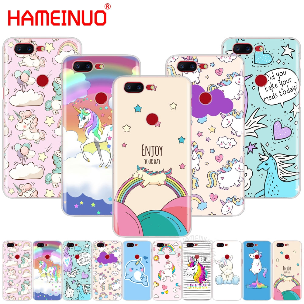 HAMEINUO Unicorn On Rainbow Jetpack cover phone case for Oneplus one plus 5T 5 3 3t 2 X A3000 A5000