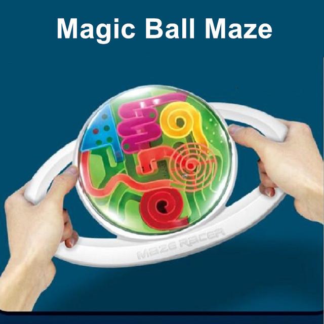 2017 Venta Caliente 3D Magia Intelecto Bola Laberinto Juego de Puzzle Formación Lógica Nuevos Regalos de Juguetes Educativos Para Niños Adultos