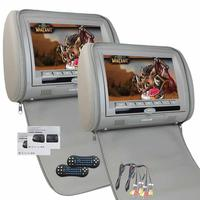 Car Headrest DVD Player x2 9'' LCD Screen Portable Video Monitor Car Entertainment System with IR FM Transmitter Game Controller