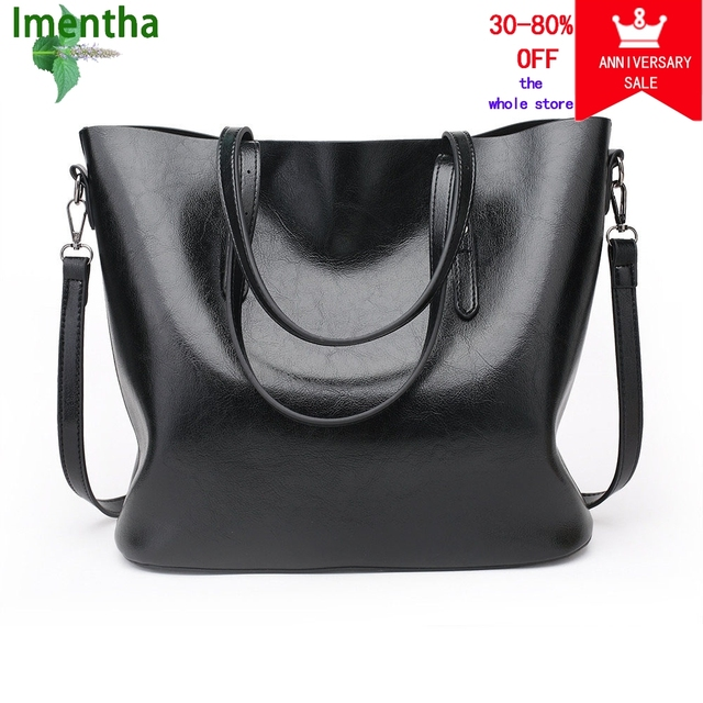 61b6bfaea1 Bolso Mujer Negro 2018 Fashion Hobos Women Bag Ladies Brand Leather Handbags  Spring Casual Tote Bag Big Shoulder Bags For Woman