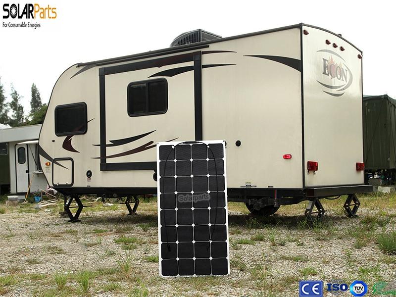 Boguang 1x 100w Flexible Solar Panel 12v Solar Plate Cell