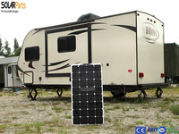 Solarparts 1x 100W Fexible Solar Panel 12V High Efficiency Solar Cell Yacht Boat Marine RV Solar