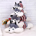 Good Quality 40CM 2016 Hot Siberian Husky dog plush toy lies prone doll creative Valentine's Day best gifts for Girl kids