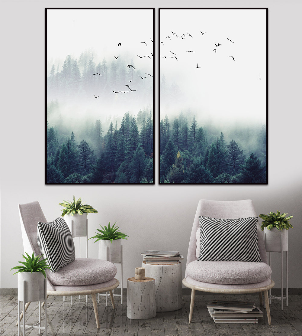 Canvas Painting est Thick FogNordic Poster Wall Sticker ... on Room Decor Posters id=25783
