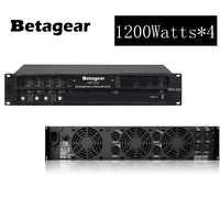 Betagear 4 Kanal linie array armplifiers 1200 w * 4 power verstärker professionelle linear Power verstärker Amp Stereo ampli 1600 w * 4