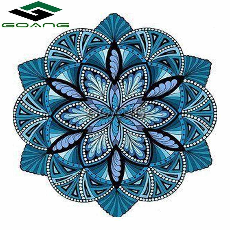 Diamond Embroidery 5D diy Diamond Painting Cross Stitch kits diamond mosaic Christmas Gift Flowers Blue mandala wall sticker