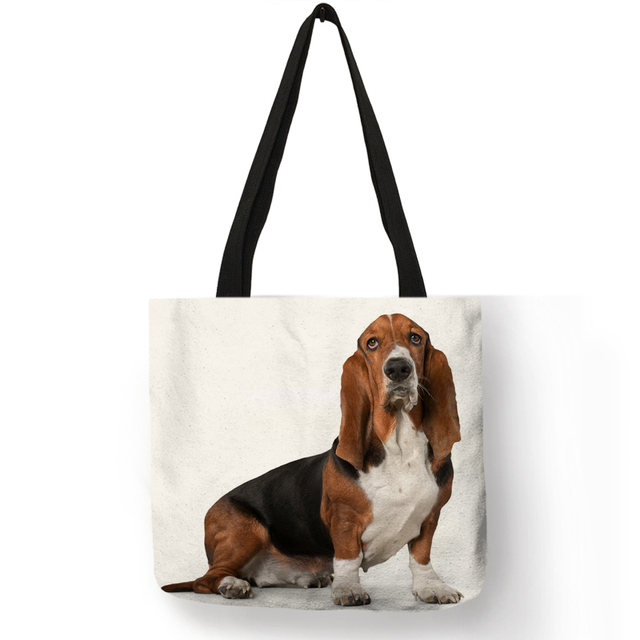 Fashion Dog Printed Handbag