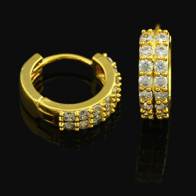 New Gold Earrings For Women Color Rhinestone Jewelry Middle East Arabic Ethiopia