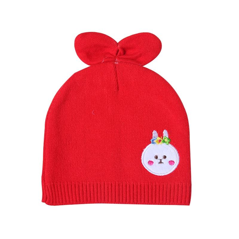 Kaninchen Ohren Baby Hut Für Neugeborene Cartoon Muster Solide ...