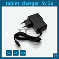 tablet charger 5v 2a power adapter for android tablet pc,suitable for 7-10 inch tablet pc