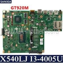 Carte mère d'ordinateur portable KEFU X540LJ pour ASUS X540LJ X540L F540L X540 Test carte mère d'origine I3-4005U GT920M