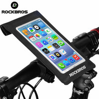Rockbros Bike Bags Touch Screen 6 0 Cell Phone Frame Front Tube Waterproof Bicycle Bags