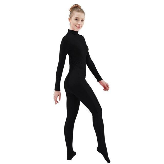 Ensnovo Body Costumes pour femmes à manches longues col roulé Unitard Spandex Body Nylon personnalisé peau Costumes unisexe complet du corps collants