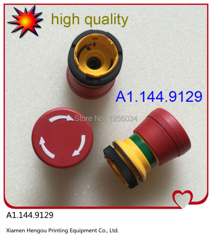 5 pieces heidelberg printing press parts CD102 SM74 SM52 emergency stop switch for printing machine A1.144.9129 original