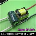 10 pc LED dentro motorista 300mA 3 W LED Driver1W 3 W * 1 W iluminação transformador de alimentação para lâmpada Lihgt lâmpada durável frete grátis