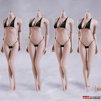 S02A S06B S09C S12D Super-Flexible Seamless Body With Stainless Steel Skeleton In Middle Breast Size 1/6 12IN TBLeague Phicen
