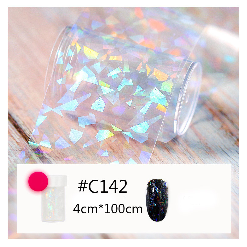 Image 3 - 100cmx4cm Broken Glass Mirror Foil Foils Finger DIY Nail Art Paper Sticker DIY Nail Beauty Decoration Tools-in Stickers & Decals from Beauty & Health
