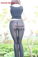 Ultra-thin transparent tight trousers boot cut slim hip sexy legging milk silk perspectivity bling optical viscose