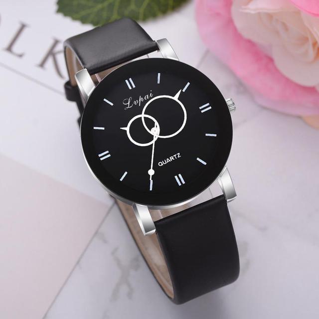 LVPAI Woman's Watch Top Brand Luxury Quartz Wristwatch Sport Leather Strap Brace