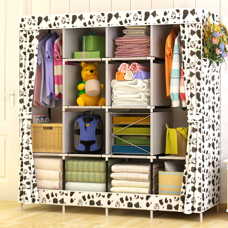 Modern Simple Wardrobe Household Fabric Folding Cloth Closet Storage Assembly King Size Reinforcement Combination Simple Cabinet| |   - AliExpress