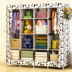 Modern simple wardrobe household fabric folding cloth ward storage assembly king size reinforcement combination simple wardrobe.jpg 250x250