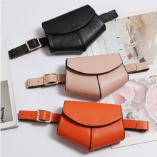 Fashion Women Leather Waist Belt Bag Mini Pack Small Travel Bolsas