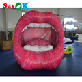 2018 Vivid design big inflatable mouth inflatable lip for advertising stage promotion decoration