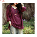 long bats sleeve lazy casual smock top causal lazy women summer soft plus large size blouse T-shirt camisa