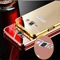 A3 0.3 MM Fina de Alumínio Escovado Completa Hard case Para Samsung Galaxy A3 A3000 A300 Espelho de Alumínio de Luxo Tampa Traseira Para Galaxy A3