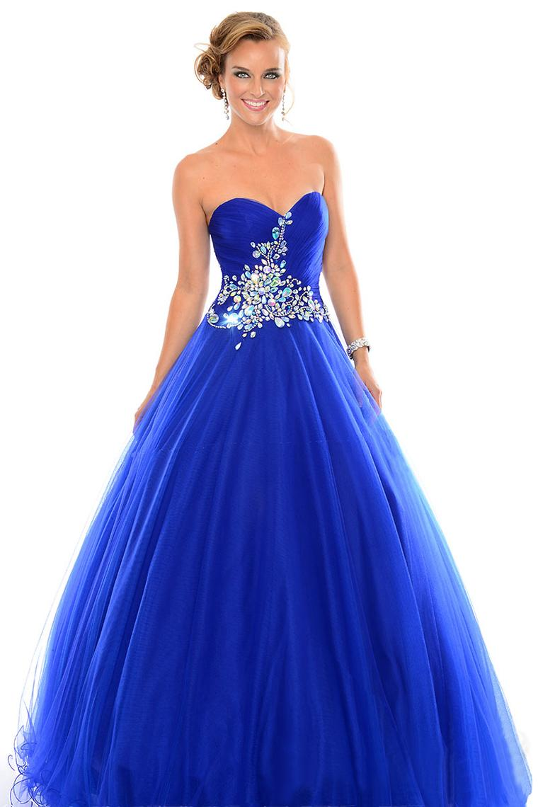 Aliexpresscom  Buy Blue Ball Prom Dress Crystals Corset -8947