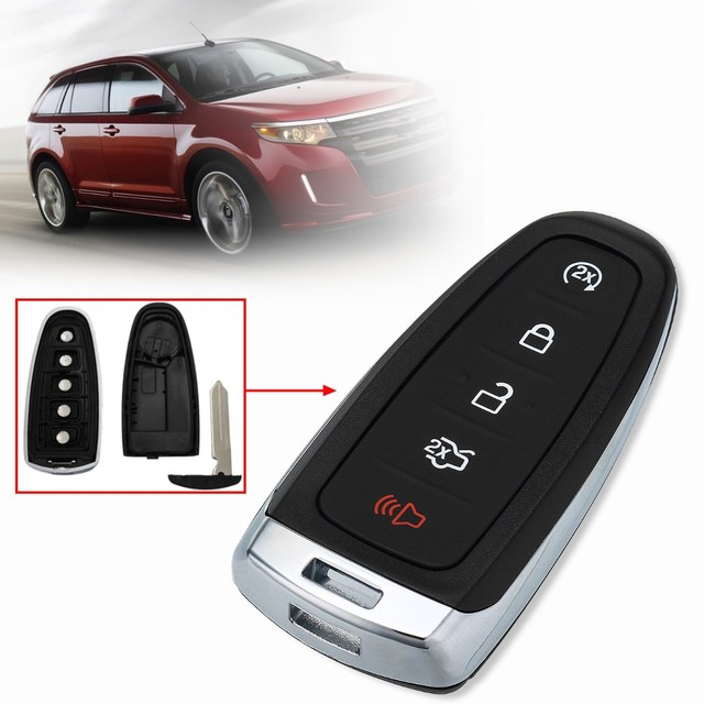 Buttons Lock Unlock Trunk Start Panic Remote Key Fob Case Shell For Ford Edge Explorer
