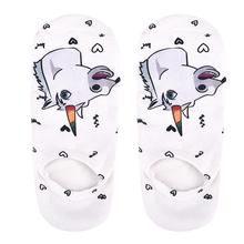 Women's Unicorn Printed Ankle Socks Set
