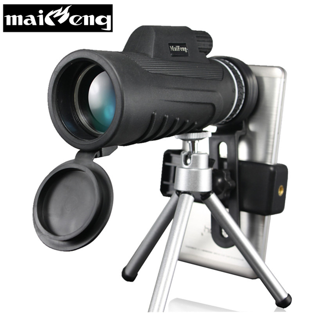 New 40X60-5 HD Monocular Professional High Quality Portable Telescope Lll Night Vision for Camping with Smartphone holder Tripod