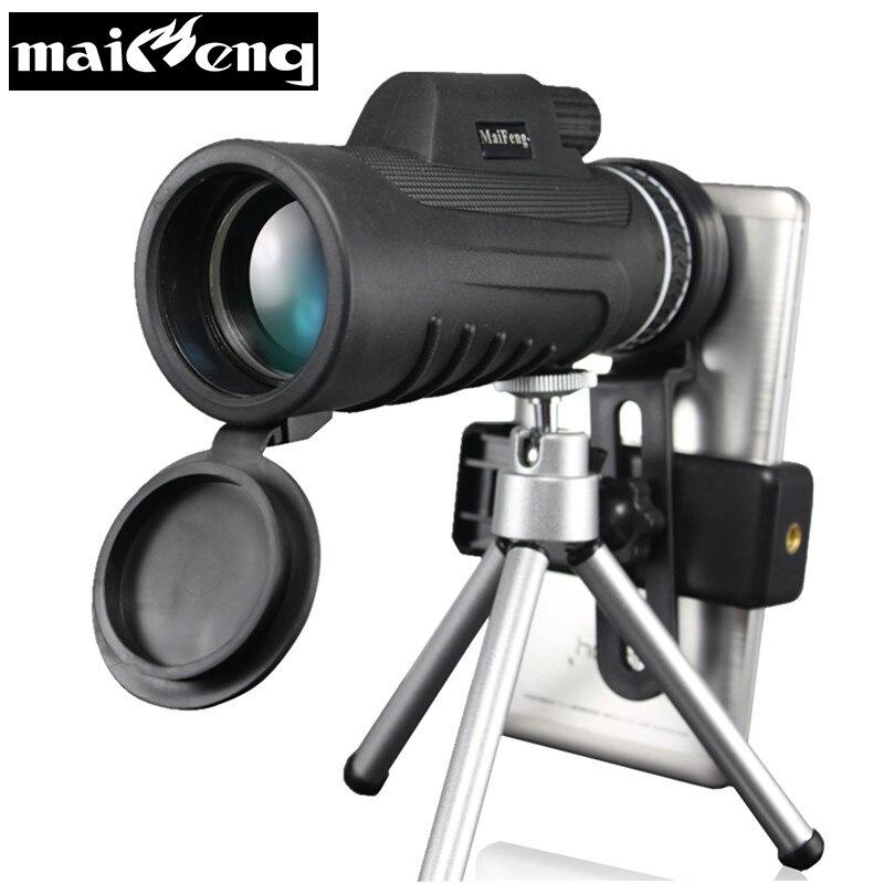 Nouveau 40X60-5 HD Monoculaire Professionnel De Haute Qualité Portable Télescope Lll Nuit Vision pour Camping avec Smartphone titulaire Trépied