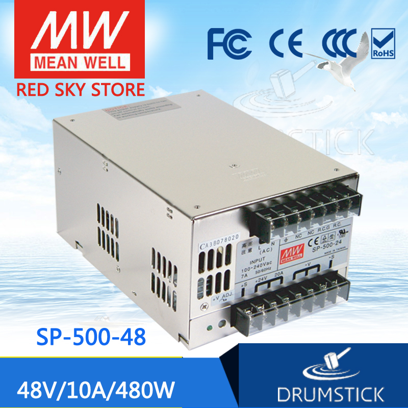 MEAN WELL SP-500-48 48V 10A meanwell SP-500 500.4W Single Output with PFC Function Power Supply