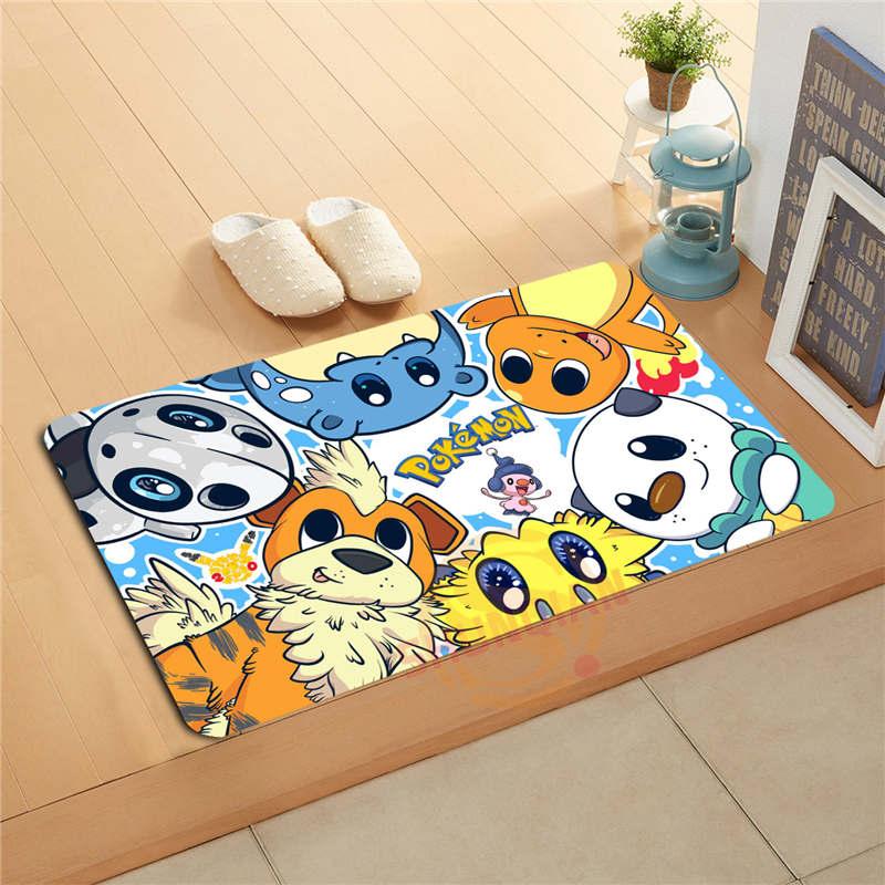 P 1031 Wjy Custom Cartoon Pikachu J Doormat Home Decor