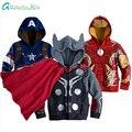 Grandwish spiderman chaqueta para niño niño niña de dibujos animados de primavera escudo abrigos para niños con capucha sudadera de algodón 3 t-12 t, SC748