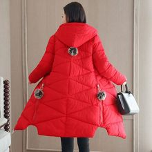 2018 Winter Jacket New Fashion Women Down jacket Slim Large size Hooded Students Thick Warm Cotton Outwear