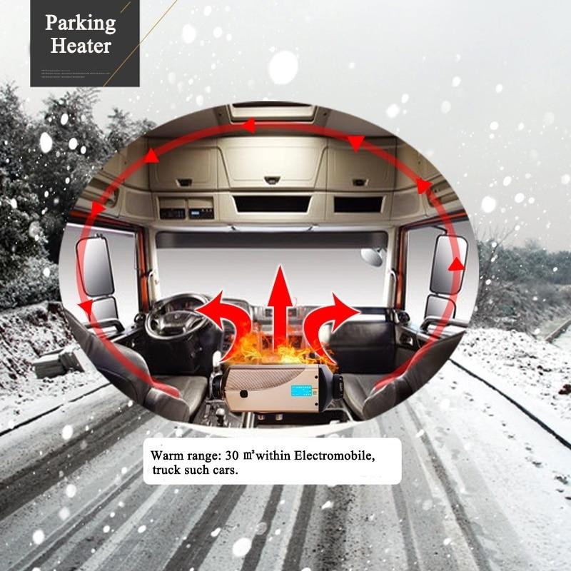все цены на HOT 12V 5000W Car Air Heater For Recreational Vehicle Motorhome Trailer Trucks Boats Portable Quickly Heated Car Warmer онлайн