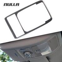 NULLA Carbon Fiber Car Interior Front Rear Reading Lamp Light Cover Frame Decoration Trim Sticker For