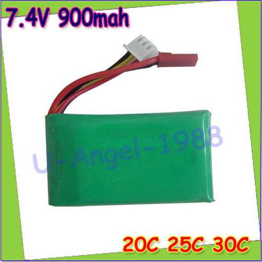 1pcs RC Lipo Helicopter Battery 7.4V 900mAh 20C 25C 30C Rechargable for RC Helicopter V912 2.4G 4CH Single-Blade Durable
